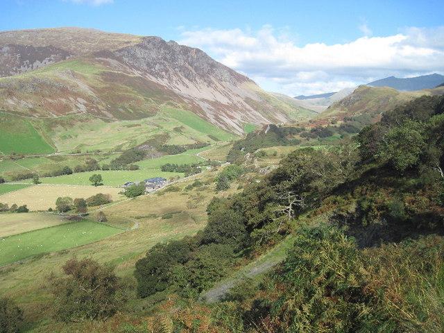Hillside above Tal-y-mignedd farm