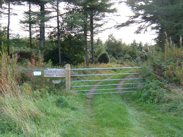 Gated Entrance to Private Woodland