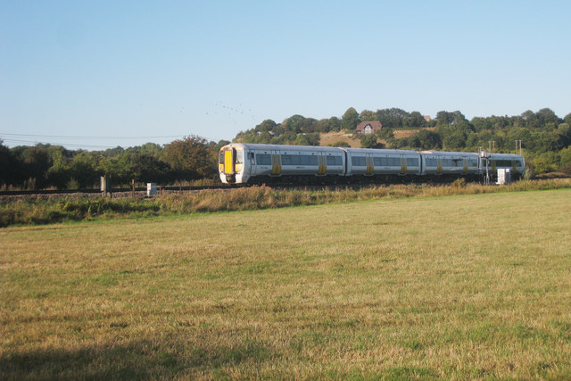 Train past Thanington