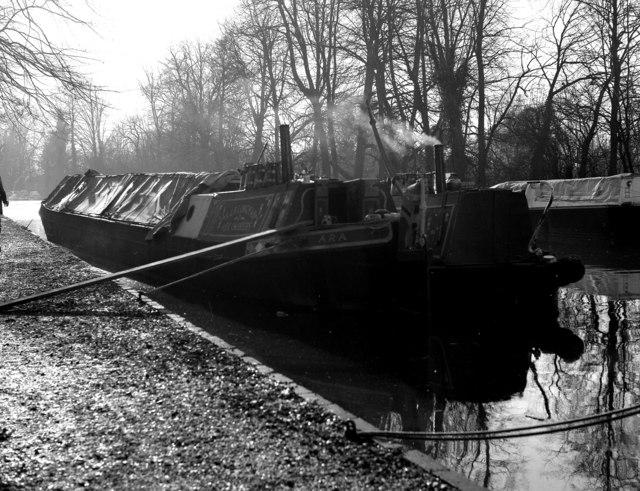 Narrow boats near Cowley, Grand Union Canal