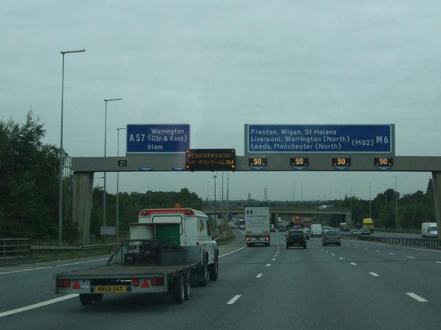 Interesting sign approaching Junction 21 M6 northbound
