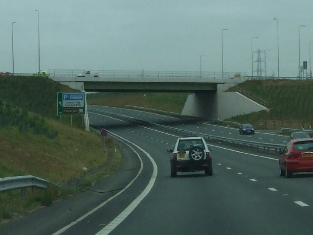 New road bridge carrying A540 at Saughall Services
