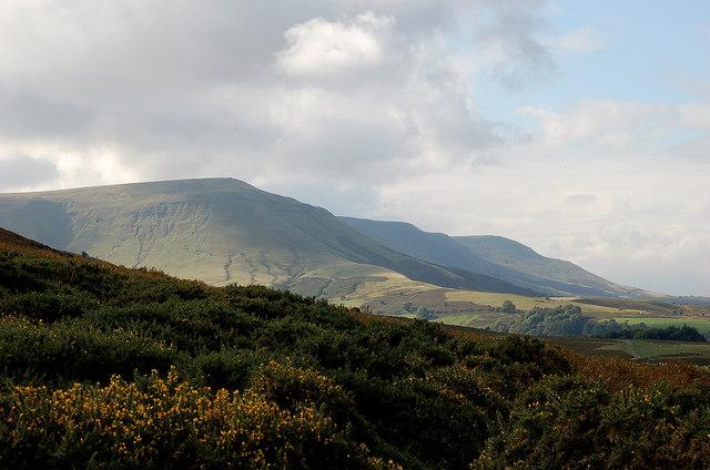 The escarpment of the Black Mountains