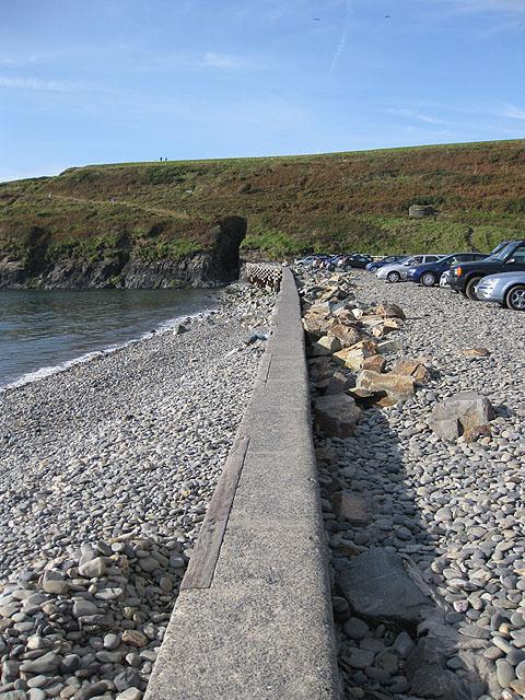 Along the sea wall, Abereiddy