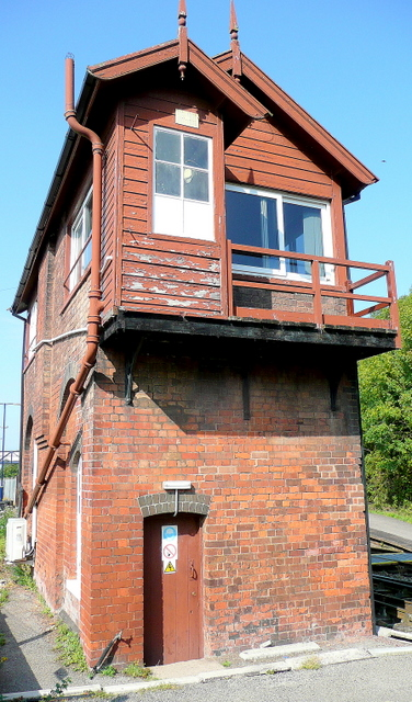 Signal Box at Ledbury station