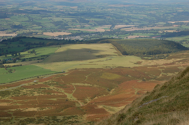 Hay-on-Wye from Hay Bluff