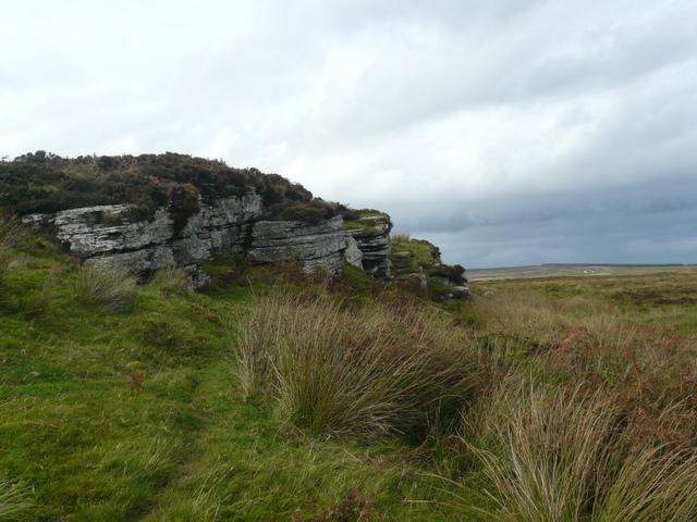 Rock outcrop near Loch of the Yarrows.