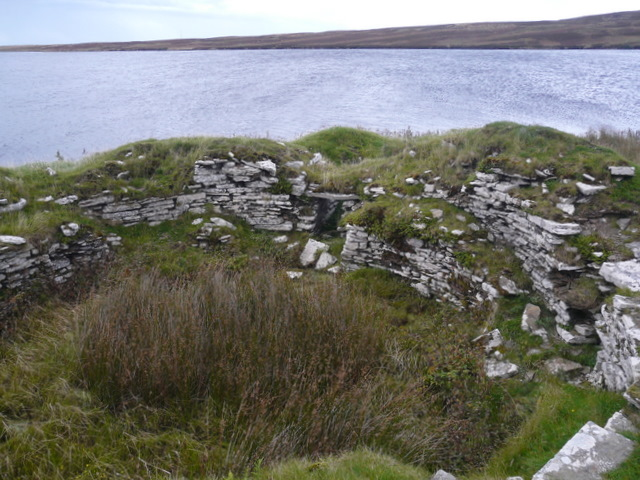 Broch at Loch of the Yarrows.