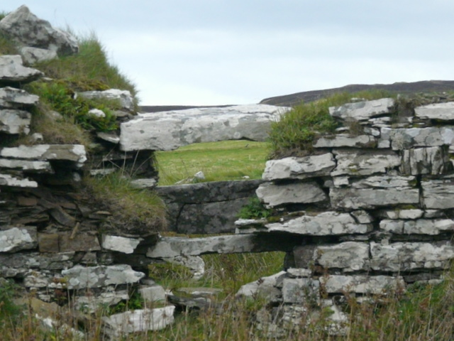 Broch at Loch of the Yarrows (detail).