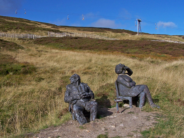Sculptures on The Cairnwell