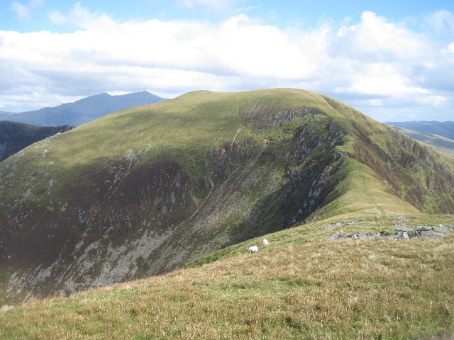 Looking towards Trum y Ddysgl and Snowdon