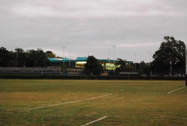 Tonbridge School Sports Centre seen from Tonbridge Recreation Ground