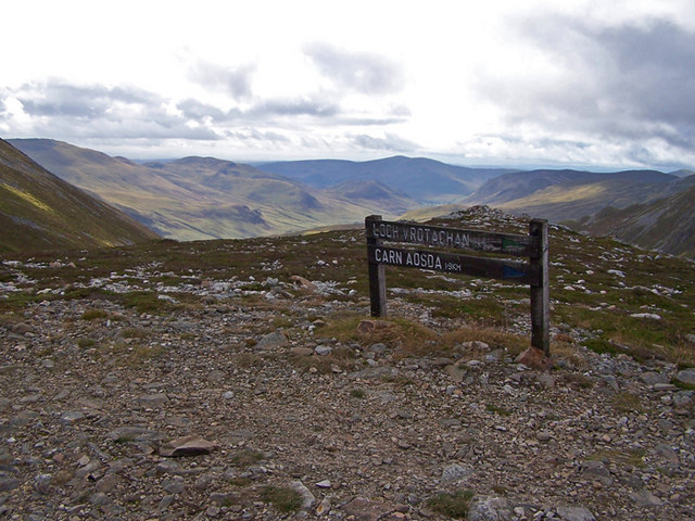 Signpost on The Cairnwell