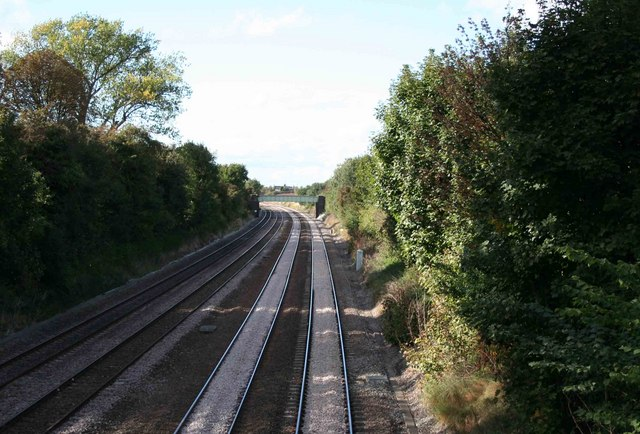 The Midland main line looking north