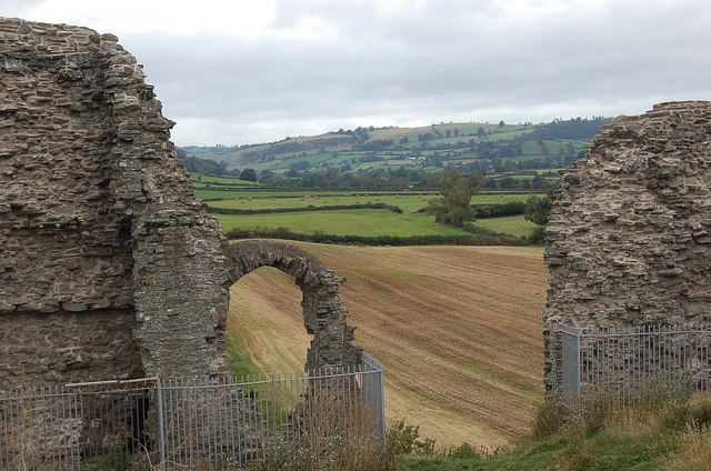 A view up the valley from Clun Castle
