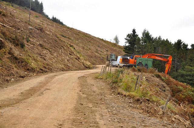 Forestry machinery at Twyn y Crug - Glyncorrwg