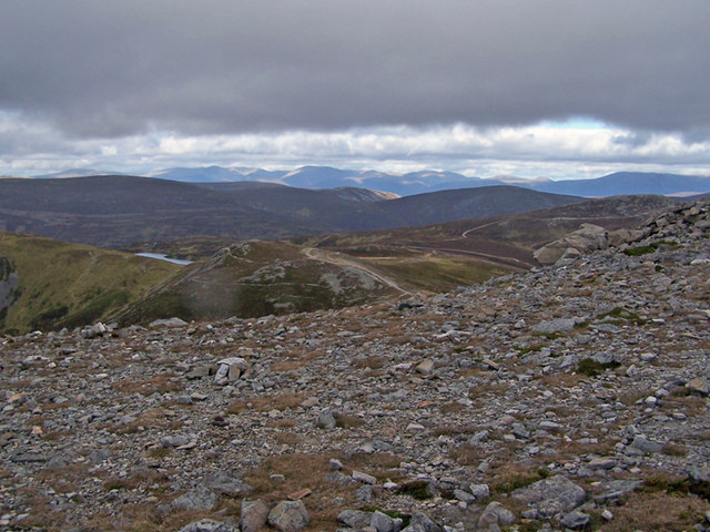 North from the summit