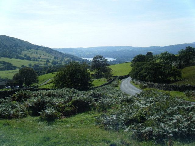 Stock Ghyll valley looking to Windermere