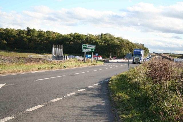A46 Roadworks looking west