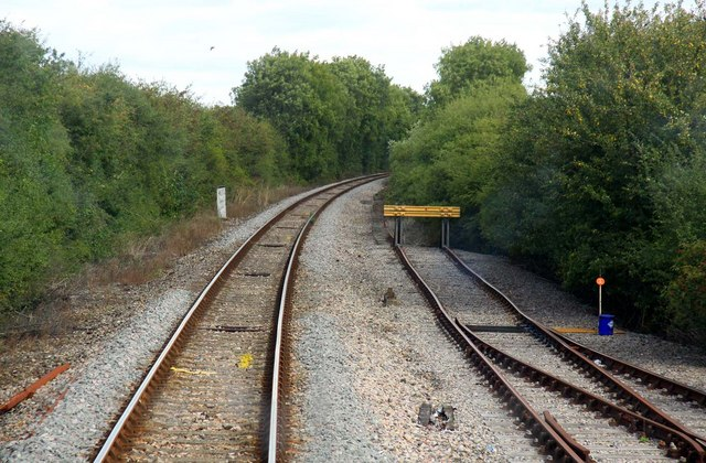 The line to Bicester and stop block in Banbury Road siding
