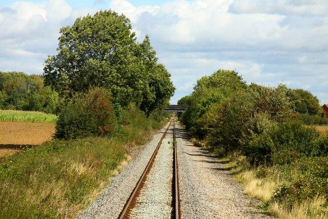 The railway line by Northfield Farm