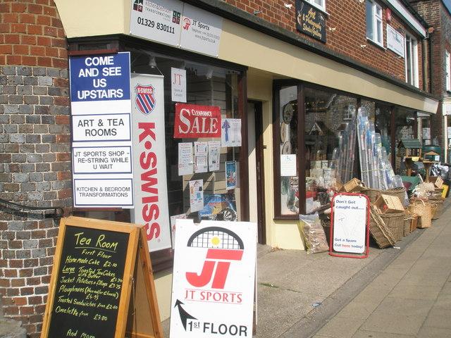 Multi-faceted shop at Wickham