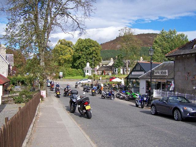 Motorcyclists meet, Braemar