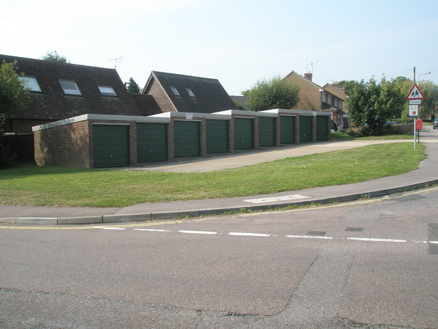 Garages on the corner of Buddens and Station Roads