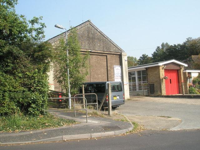 Approaching Wickham Fire Station in Mill Lane