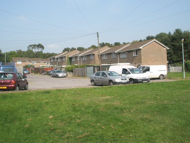 Looking across from Station Close to Gwynn Way