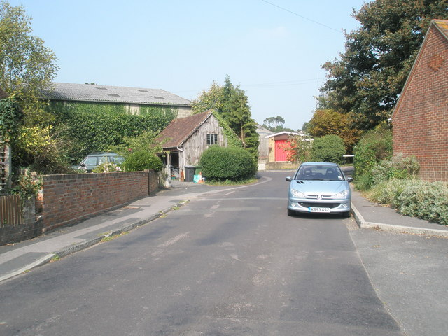 Looking up Mill Lane towards the fire station