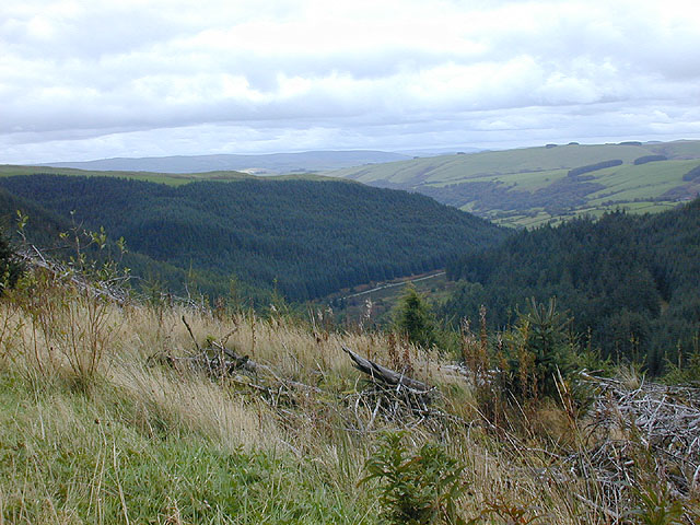 View towards the Severn / Hafren valley
