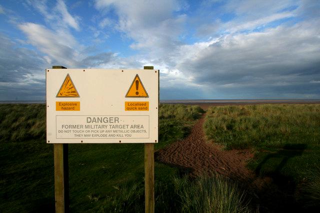 Warning Sign, Goswick Sands