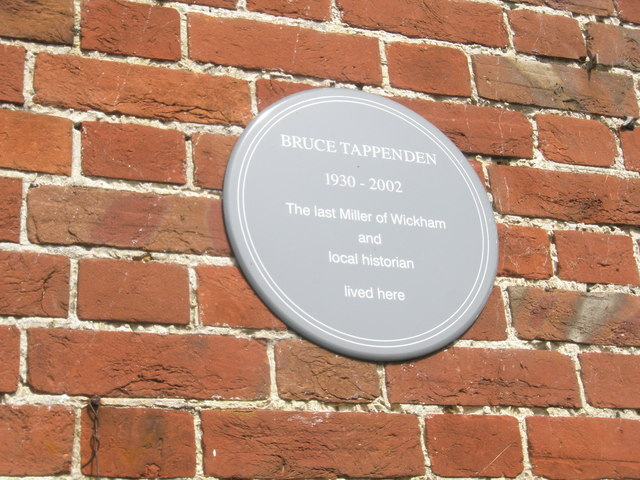 Explanatory plaque in Mill Lane