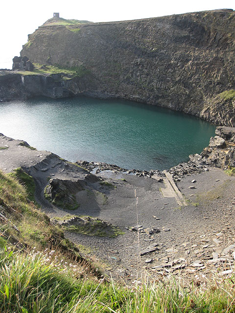 Blue Lagoon and Abereiddi Tower