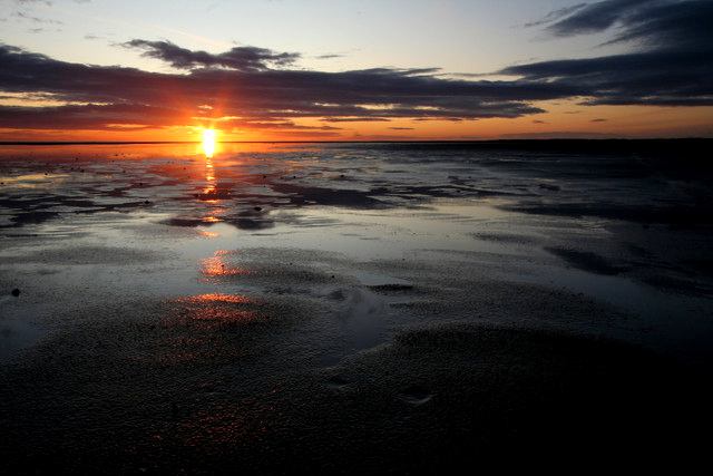 Sunrise, Goswick Sands