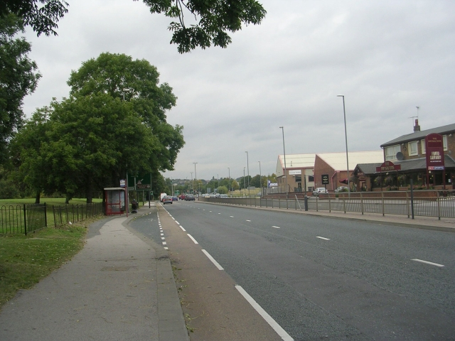 Ring Road Beeston - viewed from Cottingley Drive