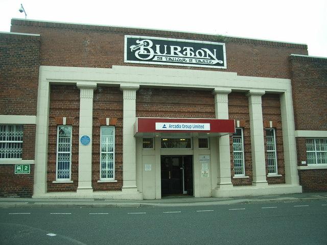 Montague Burton's  (main entrance) Hudson Road Mills  Leeds