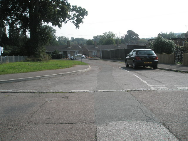 Looking from Buddens Road into Roberts Close