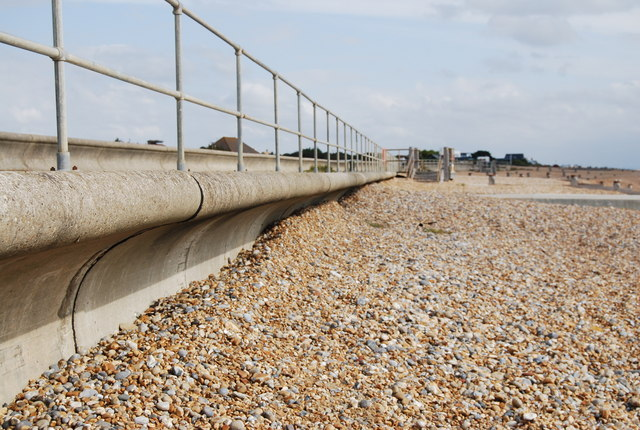 Curved Seawall, Pett Levels