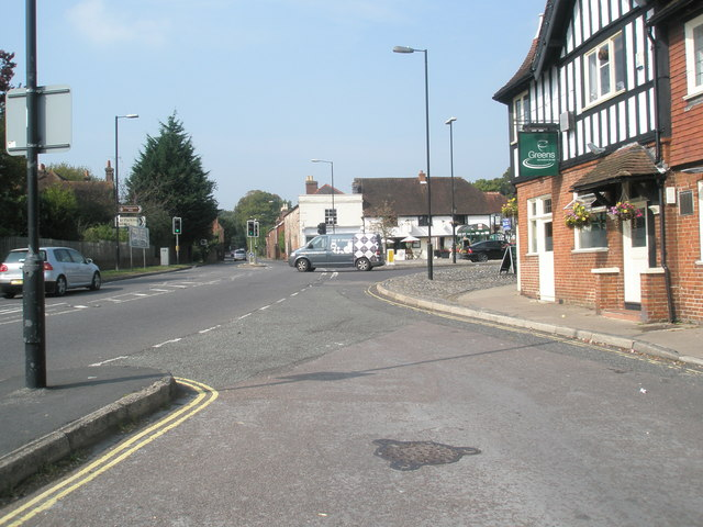 Looking from Kuti's lay-by out onto the A334