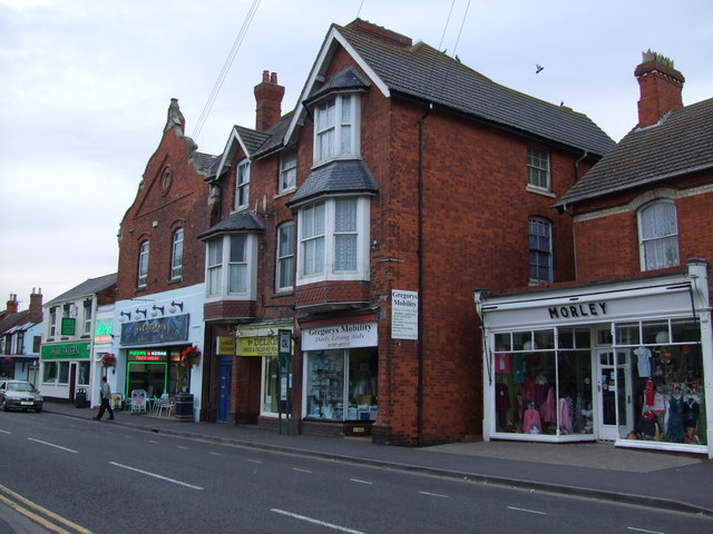 Shops in High Street Sutton on Sea