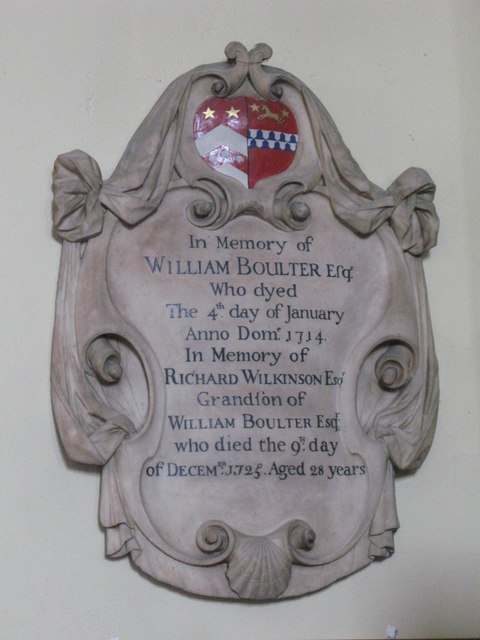 St. Nicholas' Church, Deptford Green, SE8 - memorial plaque, 1714