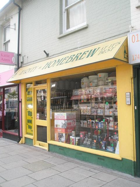 Homebrew shop in West Street