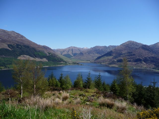 View into the elbow of Loch Duich from Ratagan