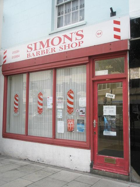 Simon's Barber Shop in West Street
