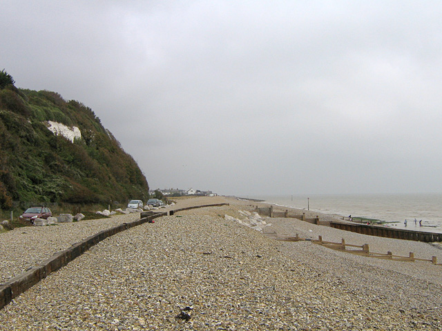 Kingsdown beach, north from Oldstairs Bay