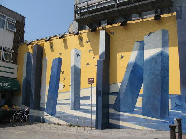 Trompe l'oeil on New Cross Road, SE8