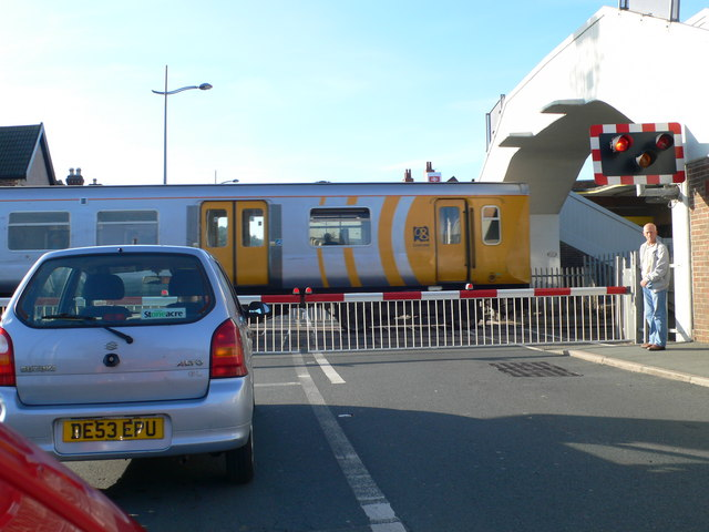 The 5.20 for West Kirby leaving Hoylake