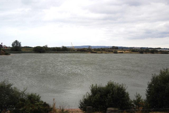 Flooded Gravel pit by Camber Rd